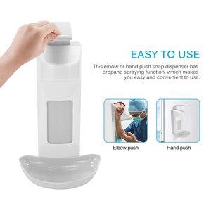 Image 2 - Dispensador de sabão líquido montagem na parede 1000ml acessórios do banheiro detergente shampoo dispensadores mão sabão garrafa