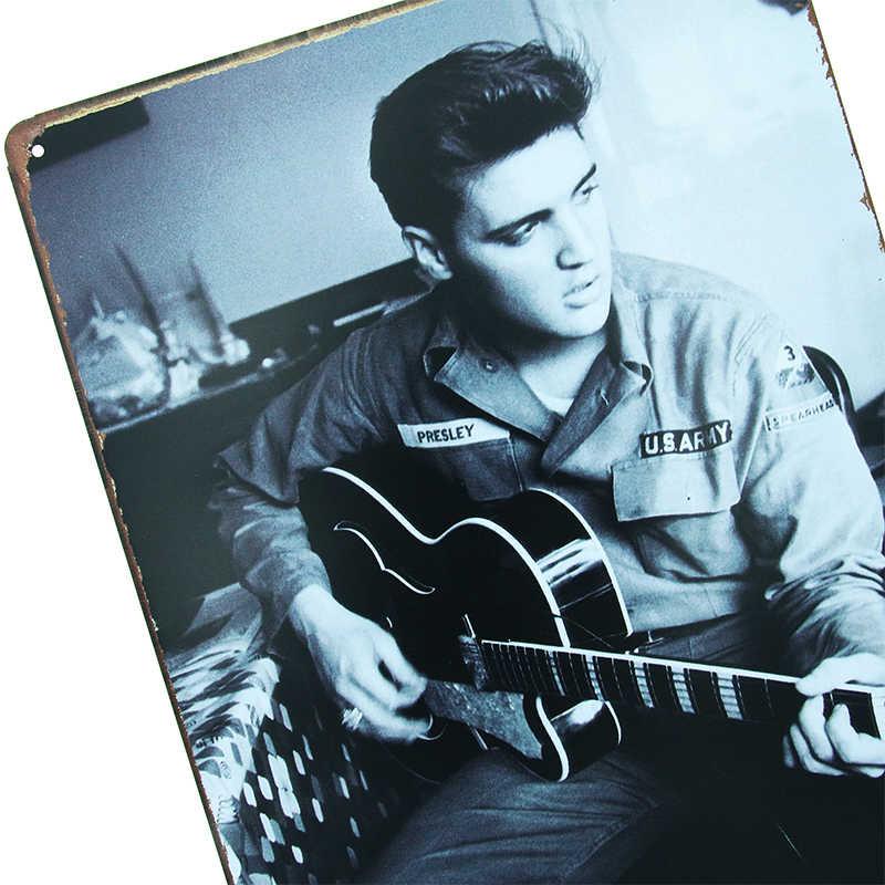 DLKKLB Vintage Decoratie Elvis Presley Retro Metallic Schilderen Plaque Metal Sign Poster Bar Club Casino Home Decor Muursticker