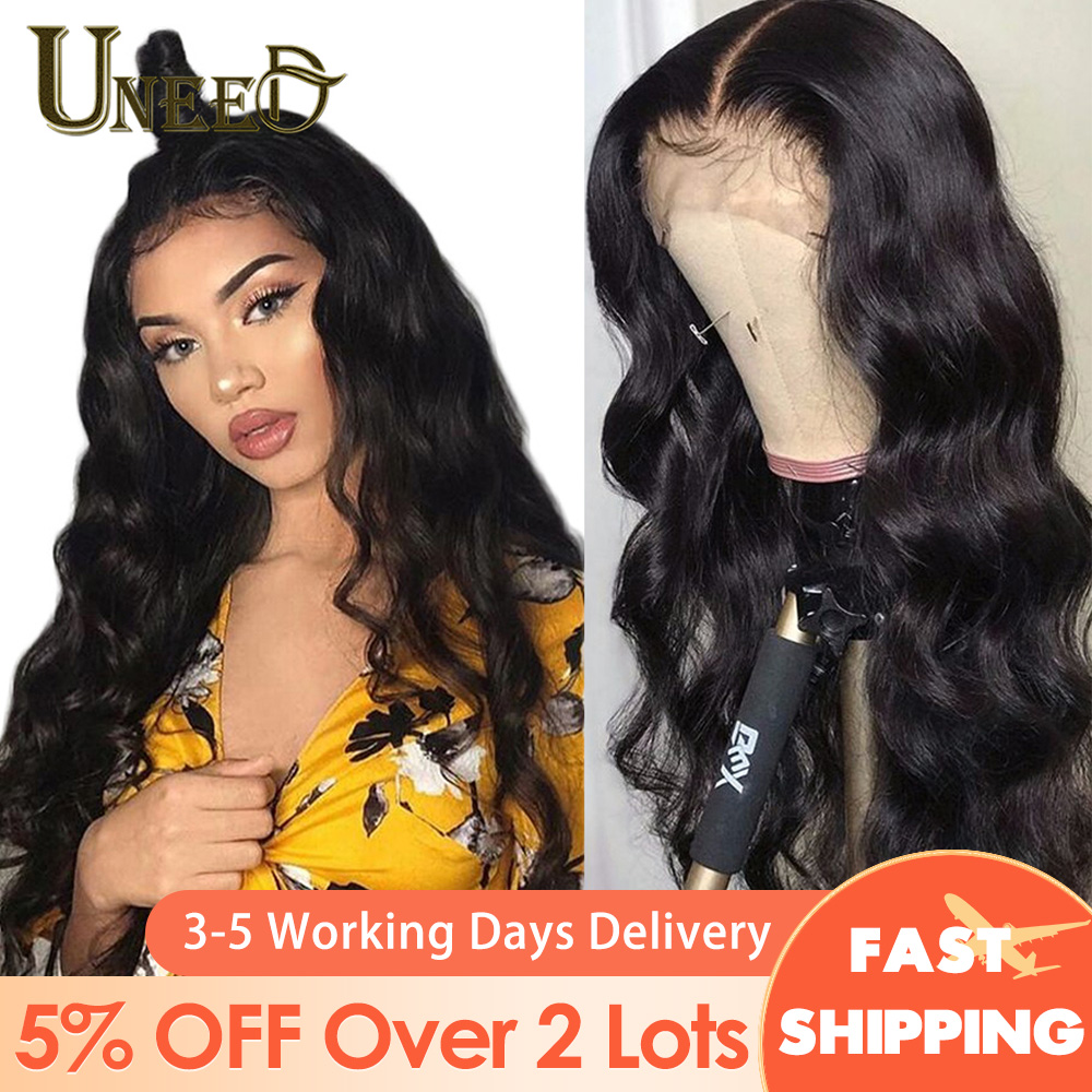 Lace Front Human Hair Wigs 4x4 Closure Body Wave Lace Frontal Wig Pre-Plucked Lace Front Wig Remy 13x4 Brazilian Body Wave Wig