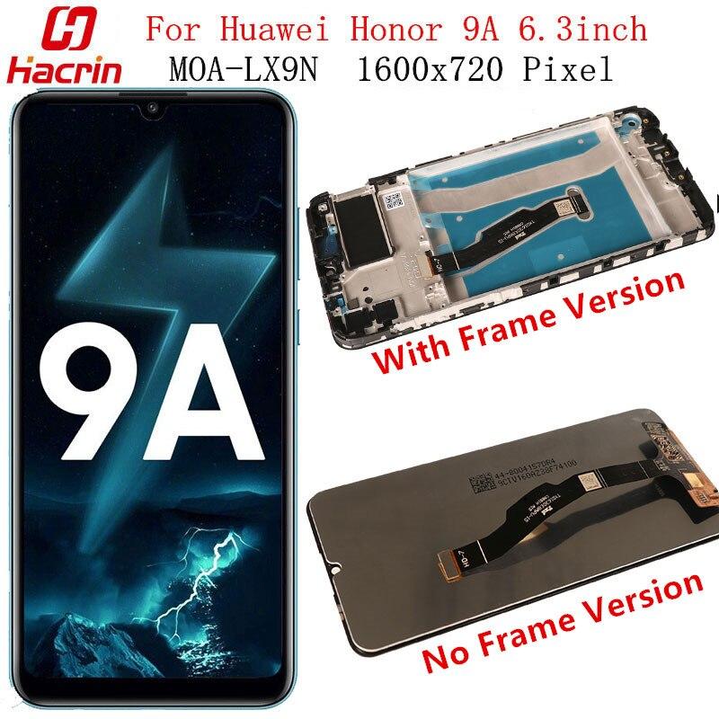 ЖК-дисплей и сенсорный экран для Huawei Honor 9A, без битых пикселей, протестированный экран, замена экрана для Huawei Honor 9 A, экран 6,3 дюйма