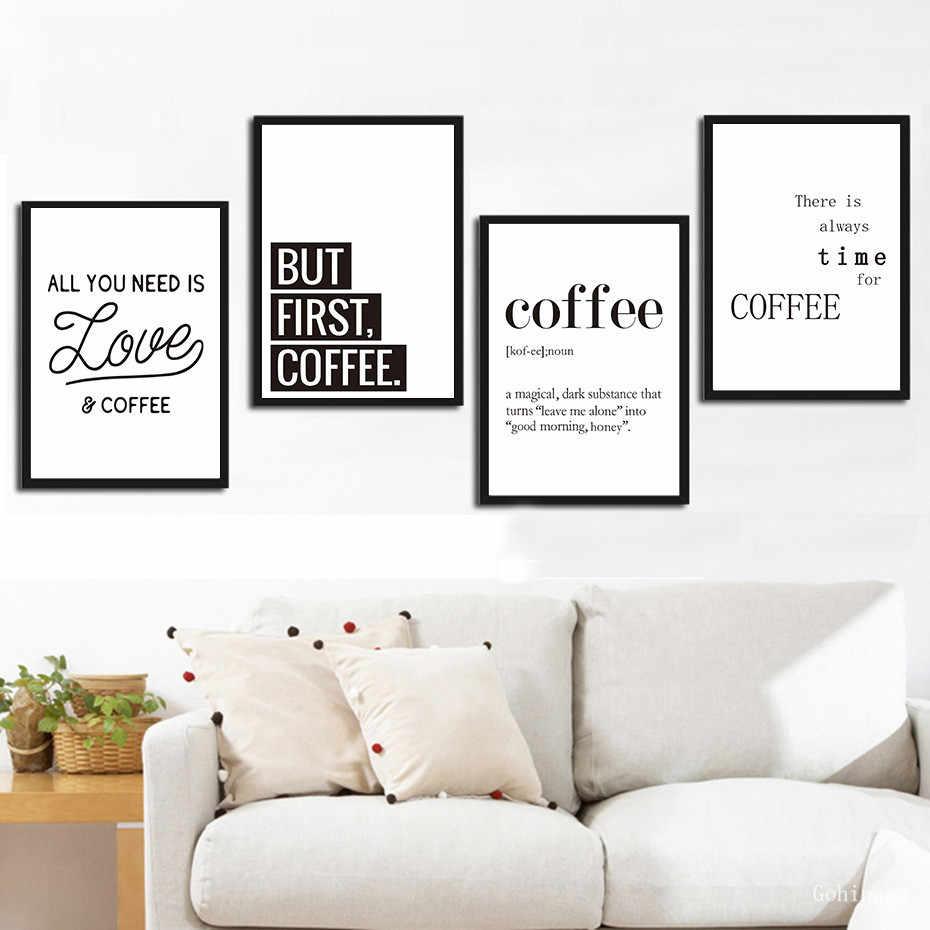 Cafe in Europe I Black Framed Wall Art Print Coffee /& Tea Home Decor
