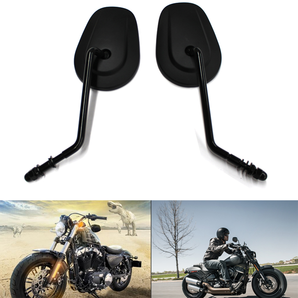 8MM Motorcycle  Rear View Side Mirrors For Harley Softail Dyna Fatboy SPORTSTER XL 883 1200 Touring Road King Street Glide CVO