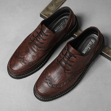 New Men Casual Shoes Fashion Men Genuine Leather Shoes Size 39-44 Lace Up Anti Slip Heels Casual Footwear for Male Oxfords * brand handmade genuine leather shoes men dress oxfords shohes lace up men shoes new fashion designer brown flat male