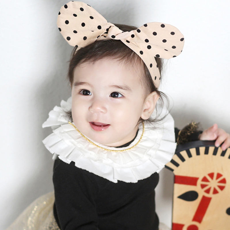 Baby Girl Hair Clips 2019 Hot Spot Printing Cloth Rabbit Ears Baby Handmade Knots Headband Newborn  Toddler Headbands Bowknots