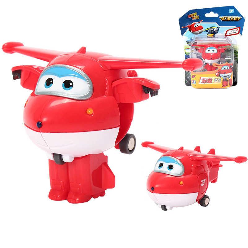 Mini AULDEY Super Flügel Verformung Mini JETT ABS Flugzeug Robot Action-figuren Transformation Spielzeug für Kinder Geburtstag Geschenk
