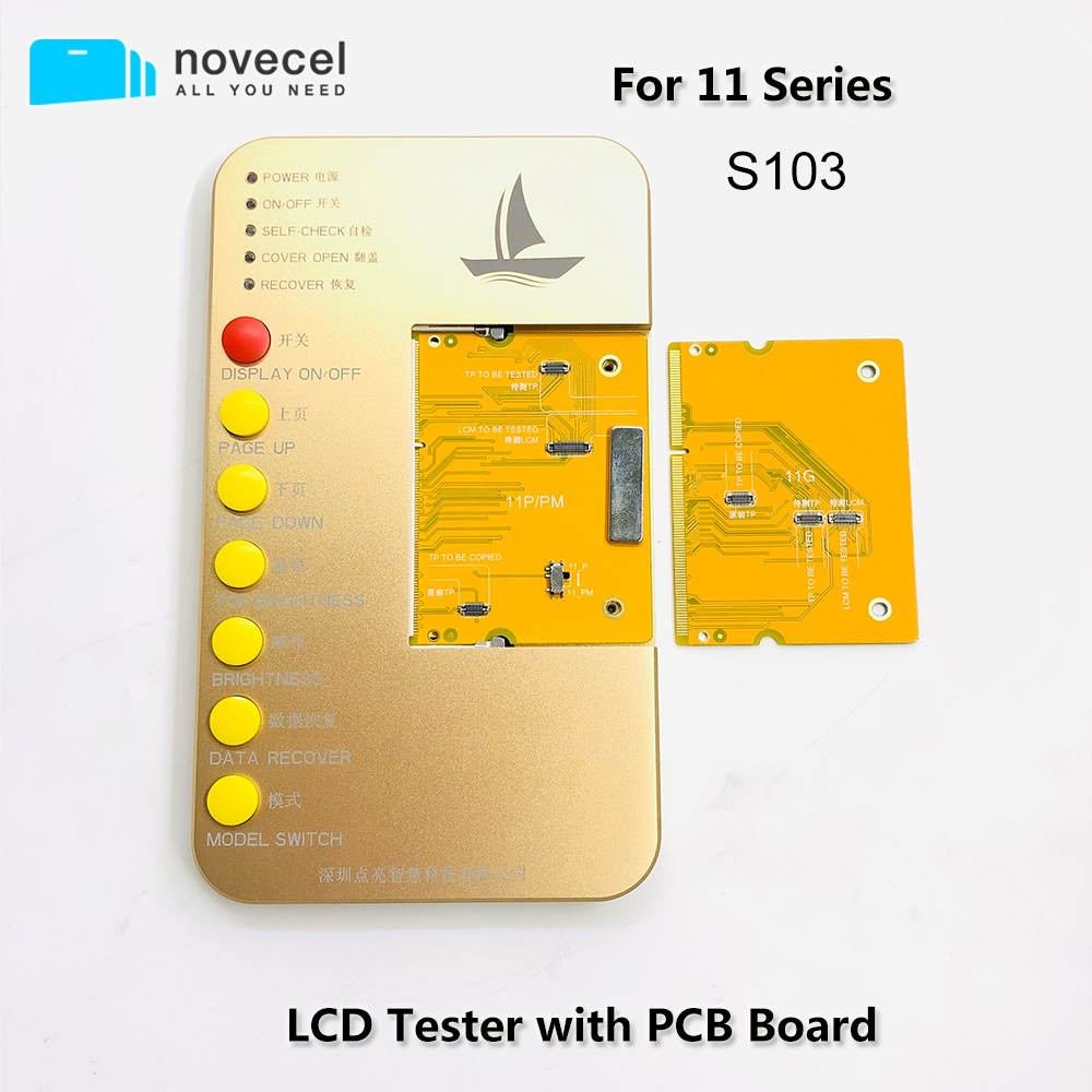 Novecel S1 Series Display Digitizer LCD Tester Tool Box with PCB Board For iPhone <font><b>11</b></font> 11Pro X Xs Max light Sensor Recovery image