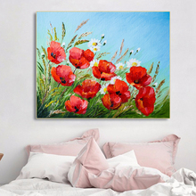 Laeacco Canvas Painting Calliraphy Blooming Flower Posters and Prints Gaiden Wall Art Pictures for Living Room Home Decoration