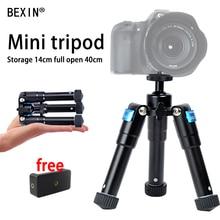 Portable Foldable Ultra Aluminum alloy Tripod Compact Desktop Macro Mini Tripod Kit with Ball Head for Canon Nikon DSLR Camera все цены