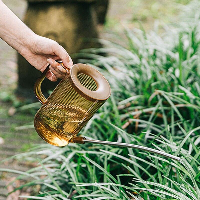 Длинные рот дизайн для выращивания цветов полива горшочки, садоводство принадлежности Лейка для полива растений зеленый/серый/коричневый|Канистры для воды|   | АлиЭкспресс