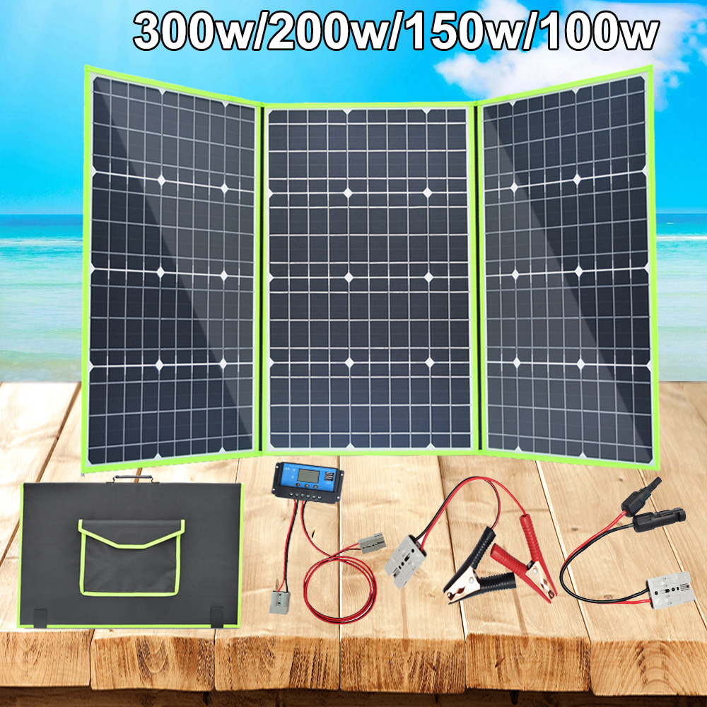 xinpuguang flexible <font><b>solar</b></font> <font><b>panel</b></font> <font><b>12v</b></font> 300w foldable <font><b>solar</b></font> charger 200w <font><b>100w</b></font> 150w 5v usb for battery car boat caravan RV phone home image