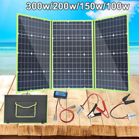 xinpuguang flexible solar panel foldable 300w 200w 100w 150w solar charger cell 12v mono waterproof for car boat battery home RV
