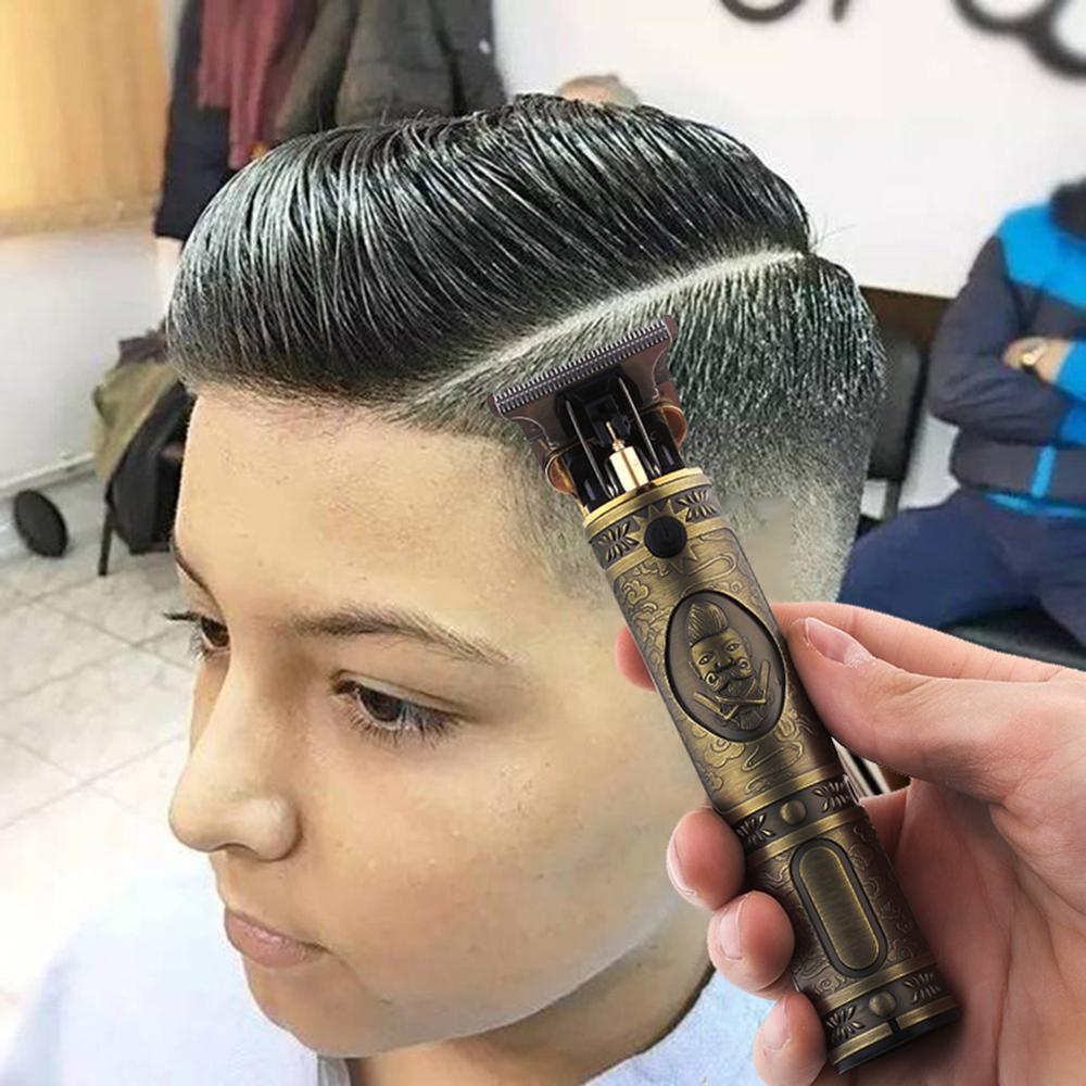 Купить usb перезаряжаемые t9 лысый машинка для стрижки волос электрическая