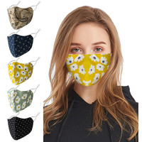 1Pcs Lace Face Mask Summer Adult Washable Reusable Lace Flower Adjustable Cotton Breathable Dust Cotton Mask mascarillas