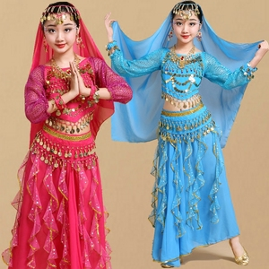 Image 2 - Belly Dance Dancer Clothes Bollywood Indian Dance Costumes for Kids Child Sexy Belly Dance Clothing Oriental Dance for Stage