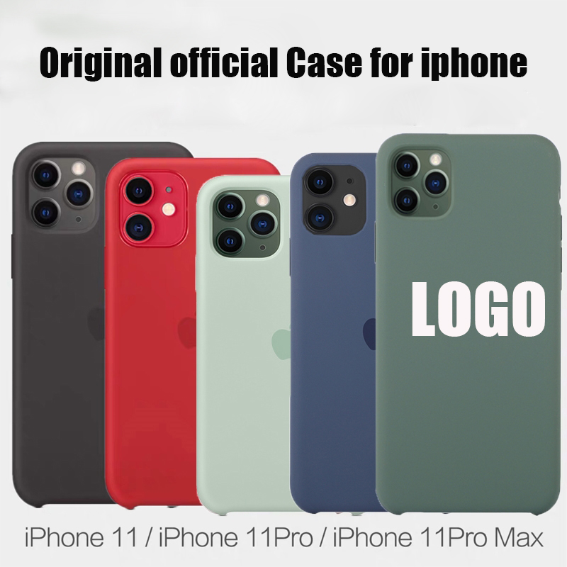 With LOGO Official Silicone Case For iphone 7 8 6S 6 Plus X XS MAX XR SE phone Case For Apple iphone 11 pro max se 2020 case