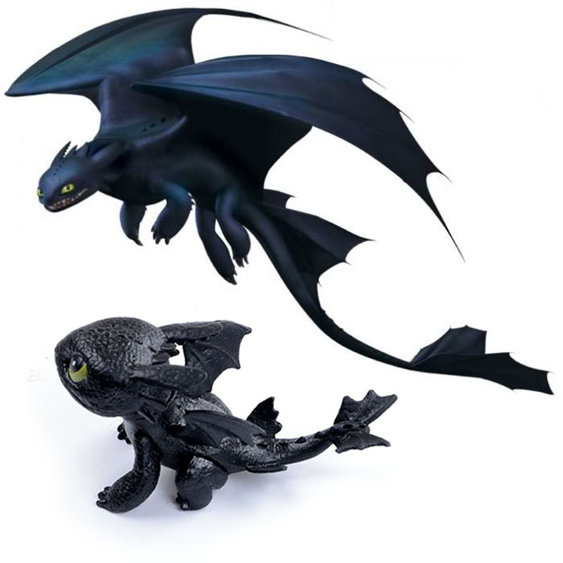 7cm How To Train Your Dragon Toothless Action Figure Toyless Toothless Toys For Children's Birthday Gifts K0010