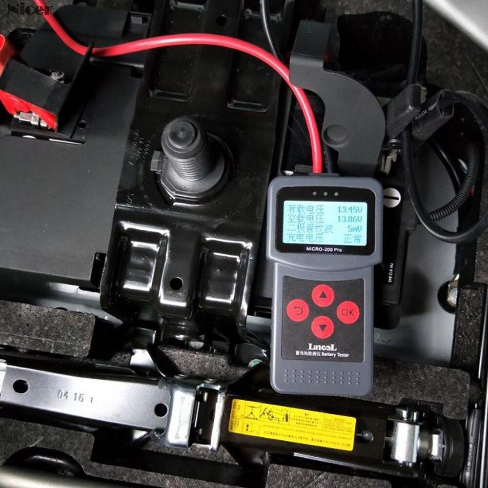 MICRO-200 PRO Car батарея тестер анализатор 12В/24В AGM edb батарея система тестер автомобильный мотоцикл инструменты быстрой диагностики