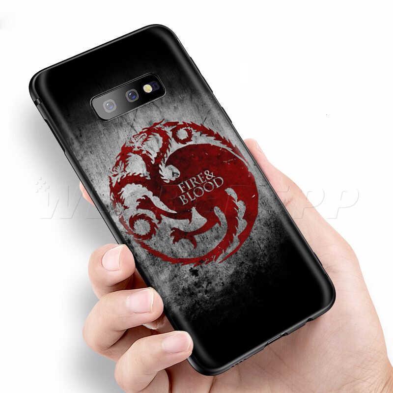 Webbedepp Game of Thrones per il Caso di Samsung Galaxy S7 S8 S9 S10 Più Il Bordo Nota 10 8 9 A10 A20 a30 A40 A50 A60 A70