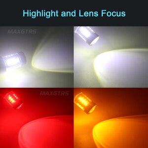 Image 5 - 2x S25 1156 BA15S 30 واط 50 واط 80 واط P21W كري رقاقة XBD LED أبيض/أحمر/العنبر عكس ضوء احتياطية Led عكس مصباح مصادر ضوء