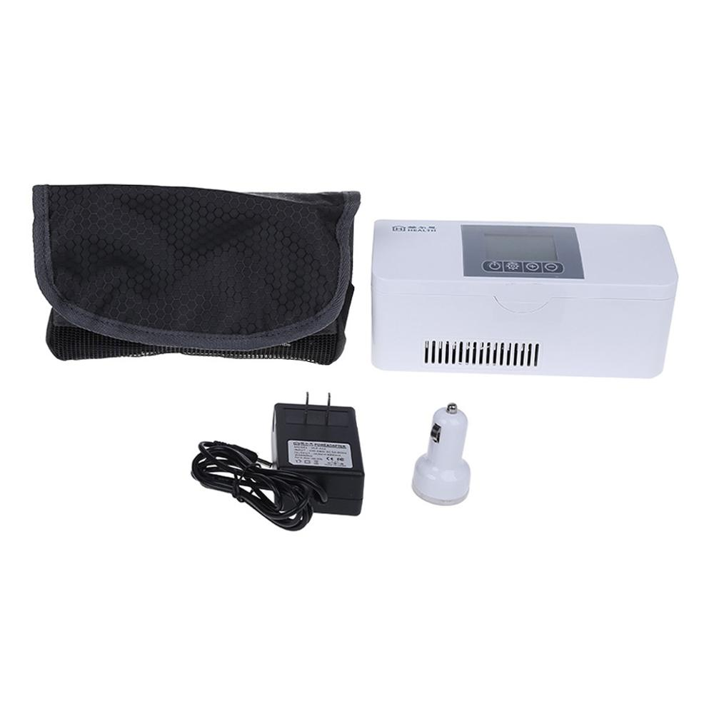 Portable Insulin Cooler Travel Case Cold Medicine Storage Bag Refrigerated Box Rechargeable Mini Refrigerator For Diabetic Organ