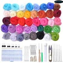 40 цветов иглы валяния Набор Diy животных шерсть войлок ремесло набор инструменты игрушки изготовление ручной работы