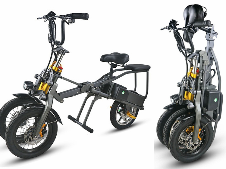 JX003 Chinese 48V 350W folding scooter electric tricycle 1