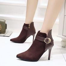 Ботинки на высоком каблуке женские ботильоны Женская Классическая