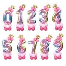 Набор воздушных шаров из фольги в виде цифр, 32 дюйма, 1 комплект