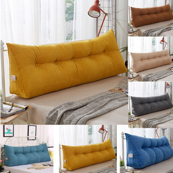 6 Colors Multifunction Solid Double Pillows Simple Bed Cushion double Bed Soft Bag Removable Bed pillow for Health Sleeping