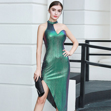 Sexy Street Bandage Dress Ladies Sleeveless Bodycon Night Club Dresses Celebrity Party Dress 2020 New Summer Green Women Vestido