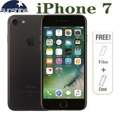 هاتف ابل ايفون 7 أصلي مفتوح 4G LTE هاتف محمول 2G RAM 256 GB/128 GB/32 GB ROM Quad Core 4.7 ''12. 0 MP بصمة هاتف مزود بكاميرا