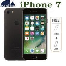 ปลดล็อก Apple iPhone 7 4G LTE โทรศัพท์มือถือ 2G RAM 256GB/128GB/32GB ROM Quad Core 4.7 ''12.0 MP กล้องลายนิ้วมือโทรศัพท์
