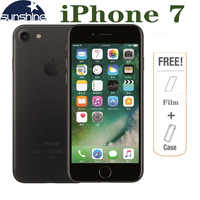 Original desbloqueado Apple iPhone 7 4G LTE móvil teléfono 2G RAM 256GB/128 GB/32 GB ROM Quad Core 4,7 '12 0 MP huella dactilar teléfono con cámara