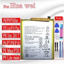 Batteria per Huawei P9 P10 P20 P30 lite/lite 2017/pro/plus/lite mini cellulare Batery per Hua Wei P6 P7 P8 Lite HB405979ECW