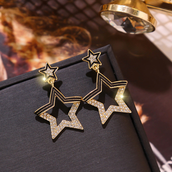 INS Star Earrings Trendy Star Women Dangle Earrings Pentagon Shiny Pendant Earrings For Women Drops Earrings.jpg 350x350 - INS Star Earrings Trendy Star Women Dangle Earrings Pentagon Shiny Pendant Earrings For Women Drops Earrings Party Earrings