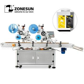 ZONESUN ZS TB831B Автоматическая плоская Этикетировочная машина высокая точность самоклеящиеся этикетки с животными диспенсер банки на коробки п