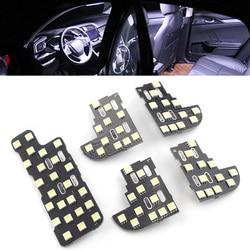 Car Interior Dome Map Reading Lights For Honda Odyssey 2005 2006 2007 2008 Bright White 5Pcs/Set