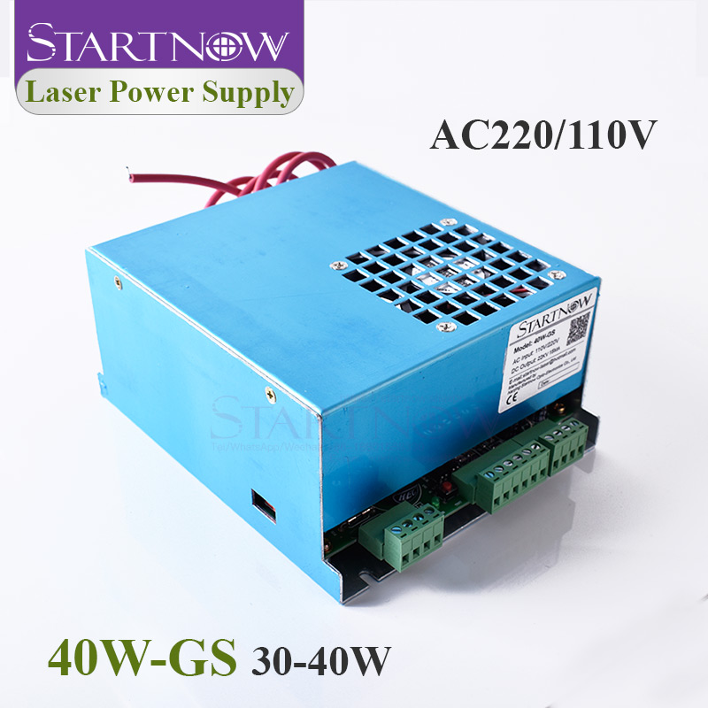 Startnow 40W-GS 40W CO2 Laser Power Supply MYJG-40 110V/220V Universal For Laser Generator Cutting Marking Equipment Spare Parts