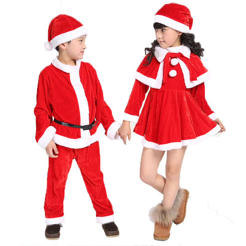 Toddler Baby Girls Boys Christmas Costume Fancy Cosplay Elf Santa Top Pants Hats