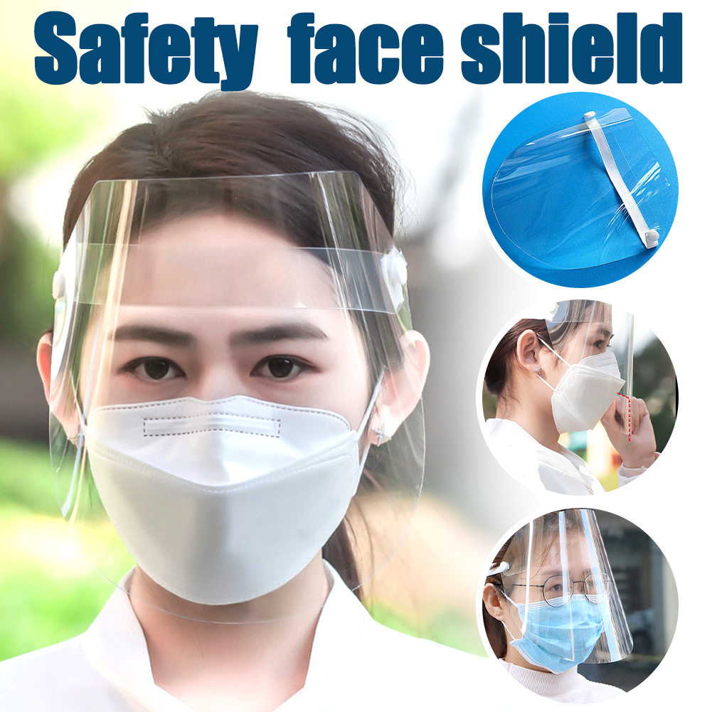 Full Faces Mask Work Protective Anti Splash Anti-fog Safety Clear Grinding Face Shield Screen Mask Visor Eye Protection Headband