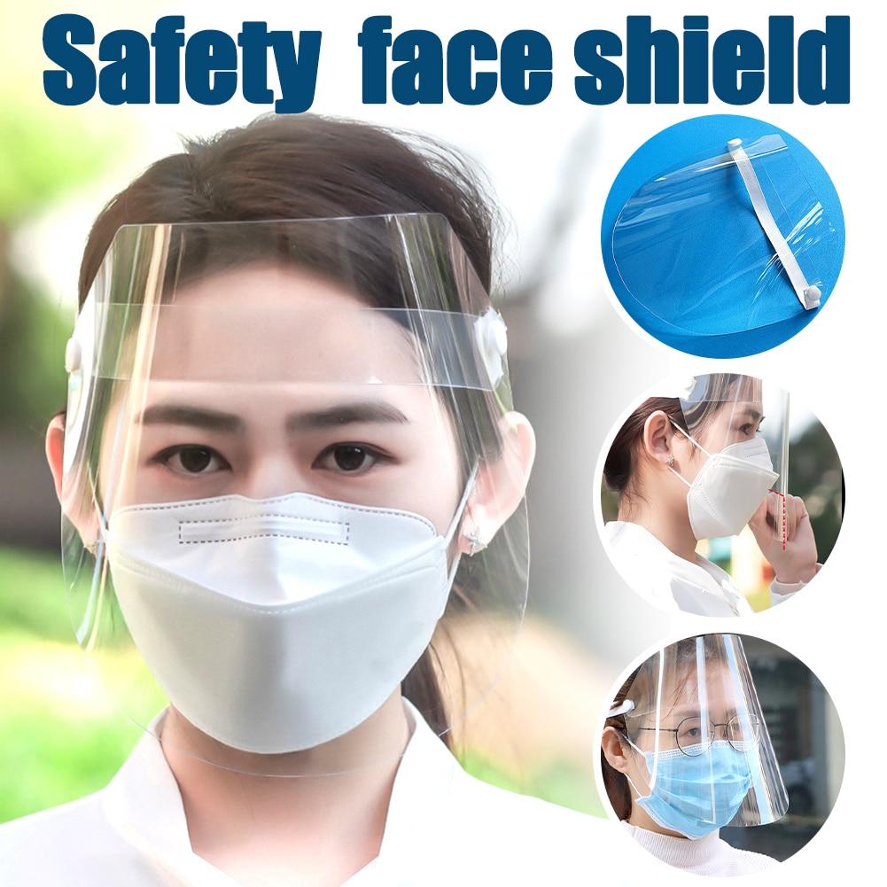 Full Faces Mask Work Protective Anti Splash Anti-fog Safety Clear Grinding Face Shield Screen Mask Visor Eye Protection Headband