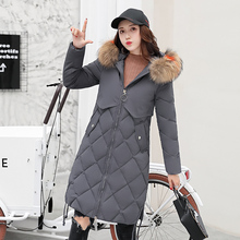 KUYOMENS Winter hot sale New Arrival Casual Warm women parkas mid-Long section Hooded Solid color Women cotton Jacket