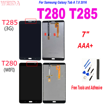 Nowy 7 #8222 LCD do Samsung Galaxy Tab A 7 0 2016 SM-T280 SM-T285 wyświetlacz LCD ekran dotykowy Digitizer zgromadzenie dla T280 WIFI T285 3G tanie i dobre opinie NONE Panel lcd combo CN (pochodzenie) 7 ~ 10 cal for Samsung Galaxy Tab A 7 0 2016 T280 T285 Pojemnościowy ekran Dla samsung