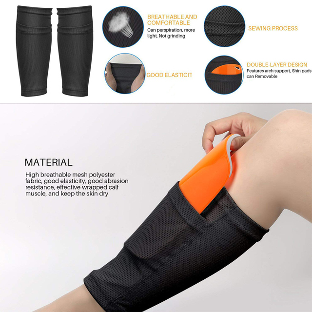 WorthWhile 1 Pair Soccer Football Shin Guard Teens Socks Pads Professional Shields Legging Shinguards Sleeves Protective Gear