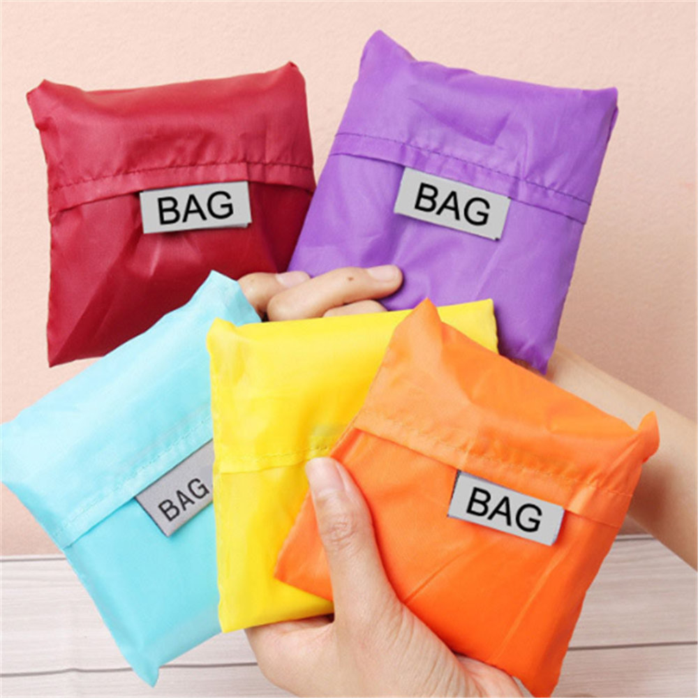 1 Pc Waterproof Polyester Shopping Bag Portable Folding Creative Reusable Foldable Shopping Bag Eco Tote Market Grocery Bag
