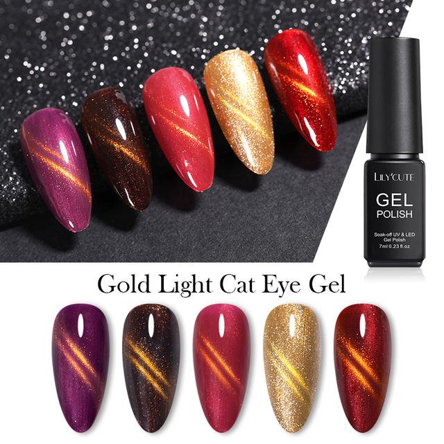 LILYCUTE  Gold Light Magnetic UV Gel