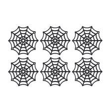 50 pces cobweb aranha web acessórios de férias para decoração (preto)