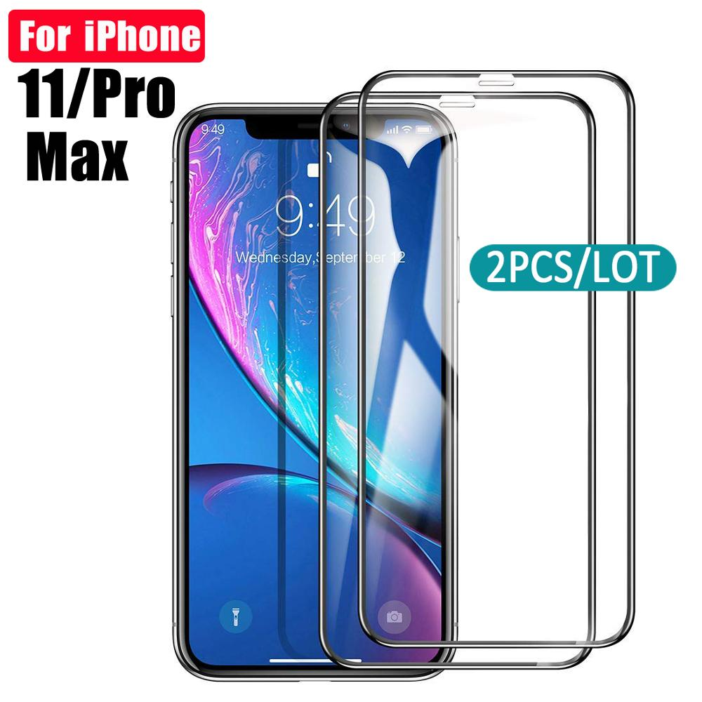 2pcs Tempered Glass For Iphone 11 Screen Protector For Apple Iphone 11 Pro Max Protective Glass Film 11pro 11promax Iphone11 9h