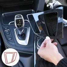 Para Bmw F30 GT F34 2013-2018 Trim Interior de fibra de carbono de cambio de engranaje cubierta de cuadro de mandos de estilo de coche 3 Serie Auto Accesso