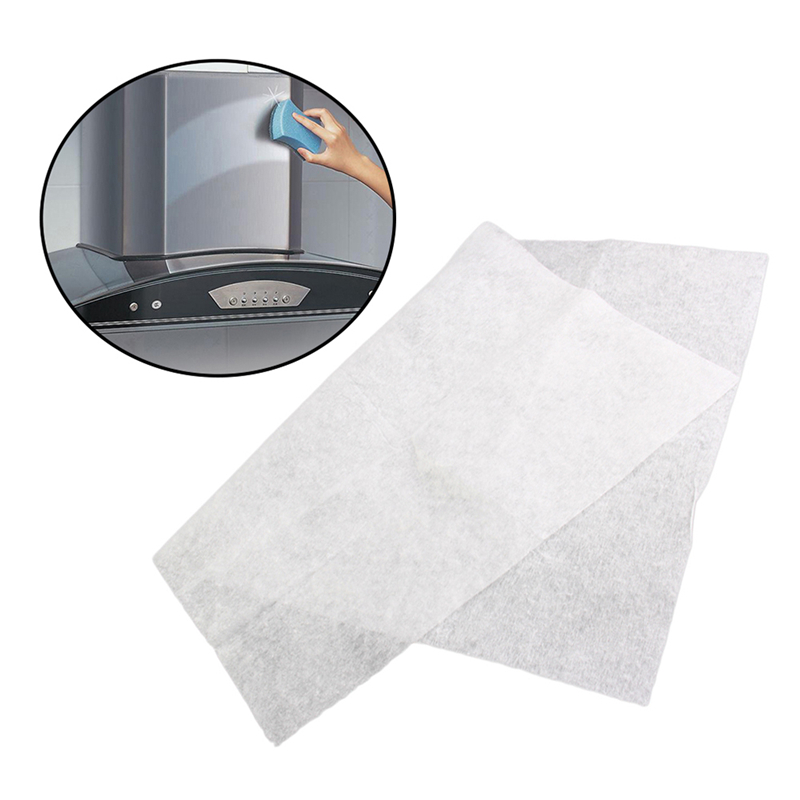 2X Kitchen Oil Filter Paper Absorbing Paper Non-woven Anti Oil Cotton Filters Cooker Hood Extractor Fan Filter Non-woven